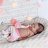HLSH 22 Pulgadas 55 cm muñecas Reborn realistas, Juguetes de Silicona Suave para niñas, muñeca Realista para recién Nacidos, Regalo para Mayores de 3 años