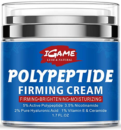 51GV9iGZr0L - Polypeptide Face Cream, Anti Aging Face Moisturizer for Anti Wrinkles, Hydrating, Brightening, Moisturizers for face with Polypeptide, Nicotinamide, Hyaluronic Acid, Vitamin E