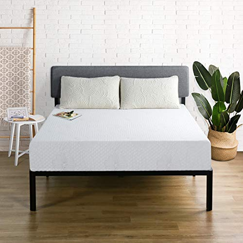Olee Sleep 9 Inch I-Gel Multi Layered Memory Foam Mattress, Twin, White