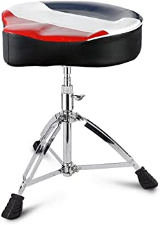 Saddle Drum Stool Can Lift Drum Stool Alloy Plating Leather Sponge Lining Adult Child General Purpose Show Exercise (B)