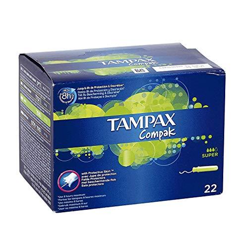 Tampax Centraline percorso Super 22 applicatori tamponi con plastica