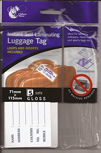 Instant autoplastificanti, 10 etichette per bagagli, 2 confezioni da 5 pezzi