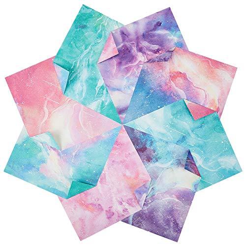 NBEADS 120 Blatt Quadratisches Origami-Papier, Galaxy Sky Theme Doppelseitiges Buntes Bastelpapier Für Handgefertigte DIY-Scrapbooking-Basteldekoration Und Bastelunterricht Der Schule, 14.7x14.7 cm
