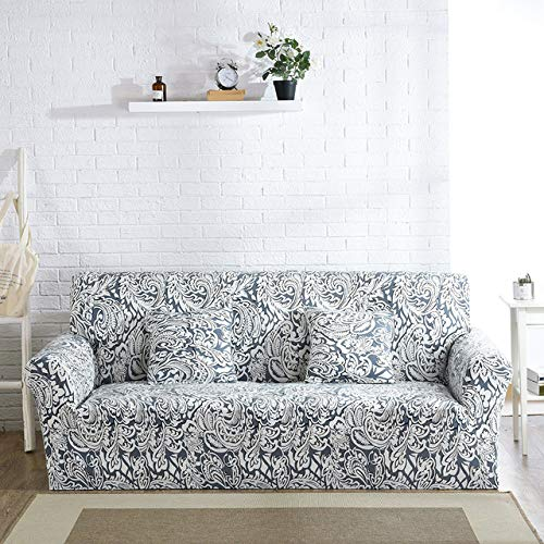ZWL Gedruckt Stretch Sofabezüge Möbel Protector Arm Chair Cover Für Wohnzimmer Polyester Couch Cover,G,2 seat 145-185cm