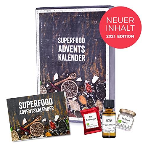 mituso Superfood Adventskalender 2021 Edition, Neuer Inhalt - Weihnachtskalender mit 24 Überraschungen glutenfrei natürlich