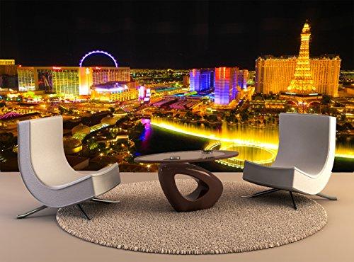 Wallpaper Wandbild Skyline von Las Vegas Nacht Wall Art Dekor Fototapete Poster Hochwertiger Druck