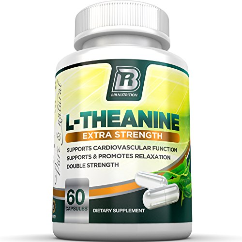 BRI L-Theanine 200mg Supplement Enhanced with 100mg Inositol for Relaxation, Anxiety and Stress Relief, Restful Sleep and Mood Boost (60 Count)
