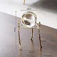 透き通ったガラス球 ノルディックの家の装飾アクセサリー現代のミニチュアの置物のお土産の机の装飾クリスマスギフト創造性クリスタルボール 水晶球 (Color : Hight 24cm)