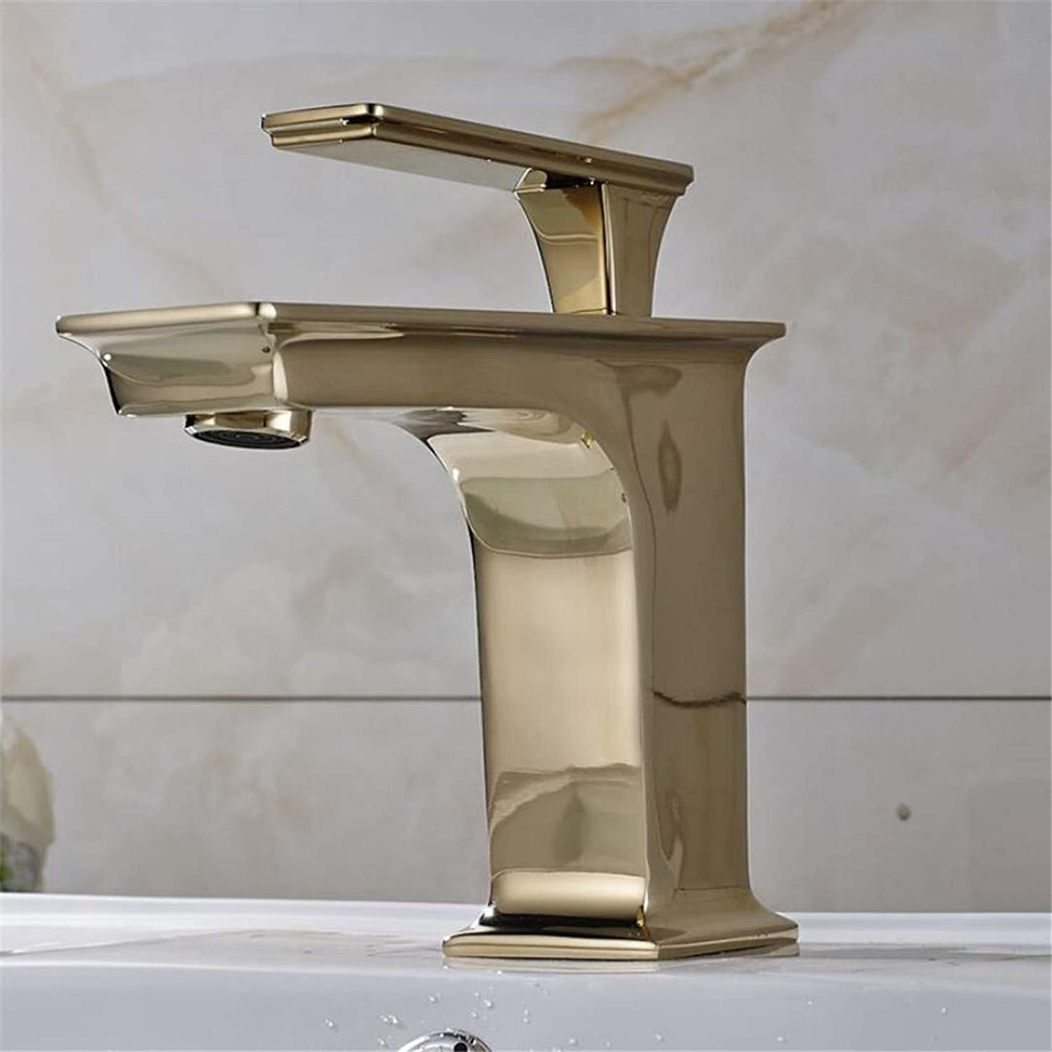Faucet Washbasin Mixer High Quality Solid Brass gold Polished Bathroom Sink Faucet Mixer Tap Crane