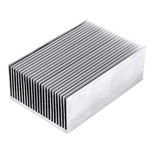 Yosoo Health Gear - Disipador térmico de aluminio para difusión de radiador, disipador de calor para amplificador LED de alta potencia, dispositivos semiconductores con 100 mm de largo x 69 mm de ancho x 36 mm de alto