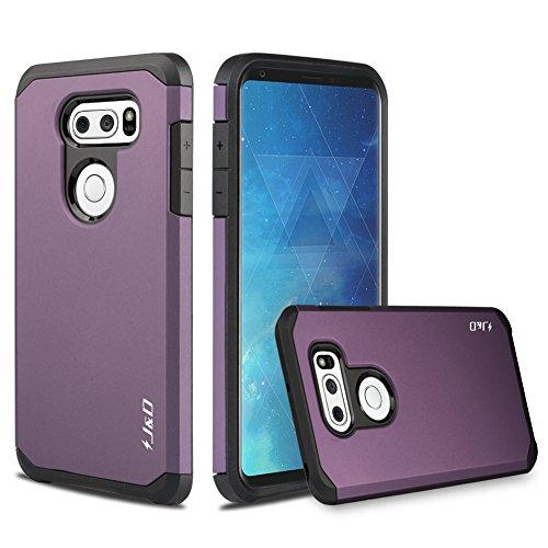 JundD Schutzhülle kompatibel für LG V35 Hülle, LG V35 ThinQ/LG V30S/LG V30S ThinQ/LG V30/LG V30 Plus Hülle, strapazierfähige, doppellagige Hybrid-Schutzhülle für LG V35, Violett