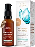 Hyaluronic Acid Serum highly dosed with Q10 and Vitamin C serum vegan, 1.6 Fl oz, scientifically proven anti aging effects – organic natural cosmetics by Marie Jardin