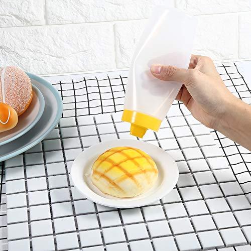 Gesund ohne Geruch, Spritzflaschen, ungiftige Saucenflasche, Marmeladenspender, Restaurant für Zuhause(yellow)