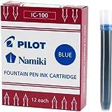Namiki IC100 69101- Cartuchos de tinta de recambio para pluma estilográfica multicolor, Pack of 12