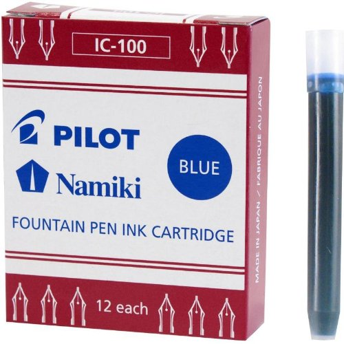 Pilot MR Collection Fountain Pen Cartridge Refill 12/Pkg-Blue