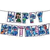 Birthday Banner for Lilo and Stitch,Lilo and Stitch Birthday Party Supplies