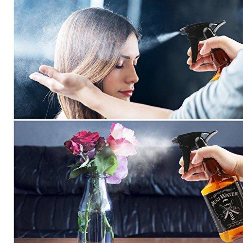 Segbeautyエアレスエアロゾルスプレイヤー美容師噴射粒が超ちっさいの霧吹き(バーバーボトル2本セット)