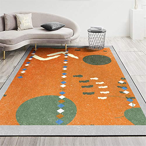 La Alfombra Alfombra de habitacion Amarillo Verde Azul Lindo Graffiti diseño geométrico Alfombra Moderna alfombras de Salon Suelo Antideslizante Alfombra 100*200cm