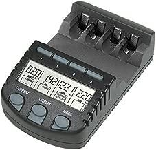 BC 700 Akku - Ladegerät mit LCD - Display, Microprozessor, Schnellladegerät für z. B. Eneloop Akkus, Panasonic Akkus,  Varta Akkus, Ansmann Akkus und u.v.m., schwarz