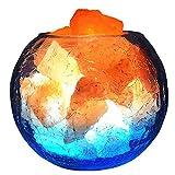 Himalaya Lámpara De Cristal De Sal con Regulador De Intensidad, Negativo Liberación De Iones De Purificación De Aire, para Escritorio, Dormitorio, Sala De Estar Y Regalo
