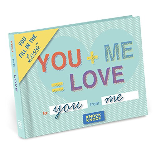 Knock Knock You + Me = Love Fill in the Love Book Fill-in-the-Blank Gift Journal, 4.5 x 3.25-inches