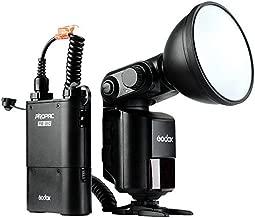 Godox Witstro AD360II-N 360W/s GN80 1/8000s HSS TTL Bare Tube Flash Speedlite + PB960 Battery Power Pack for Nikon DSLR Camera - Black