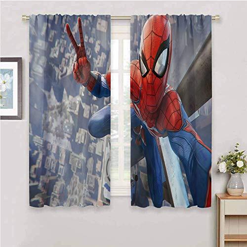 Zmcongz Black Out - Cortinas para dormitorio, diseño de Spiderman