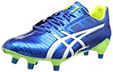 ASICS Gel-Lethal Speed, Chaussures de Rugby Homme, Bleu (Electric Blue/White/Flash Yell 3901), 42.5 EU