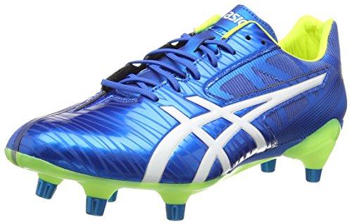 ASICS Gel-Lethal Speed, Scarpe da Rugby Uomo, Blu (Electric Blue/White/Flash Yell 3901), 43 EU