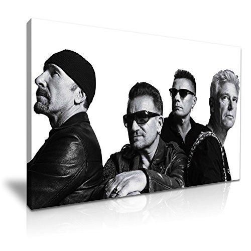 U2 Rock Band Canvas Muurfoto Print 76x50cm