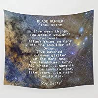 Tapestry BLADE RUNNER All Those Moments Will Be Lost Wall Tapestry Cover Beach Towel Throw Blanket Picnic Yoga Mat Home Decoration 150x130cm