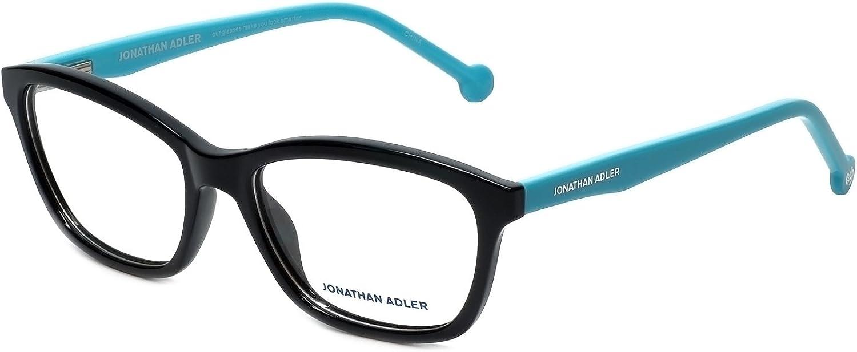 Jonathan Adler Designer Eyeglass Frames JA501Black in Black 54mm