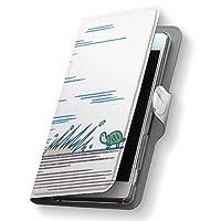 Xperia Z5 エクスペリア SO-01H ケース 手帳型 スマコレ レザー 手帳タイプ 革 フリップ ダイアリー 二つ折り 横開き 革 SO01H ケース スマホケース スマホカバー アニマル 008928 Sony ソニー docomo ドコモ うさぎ 亀 イラスト so01h-008928-nb