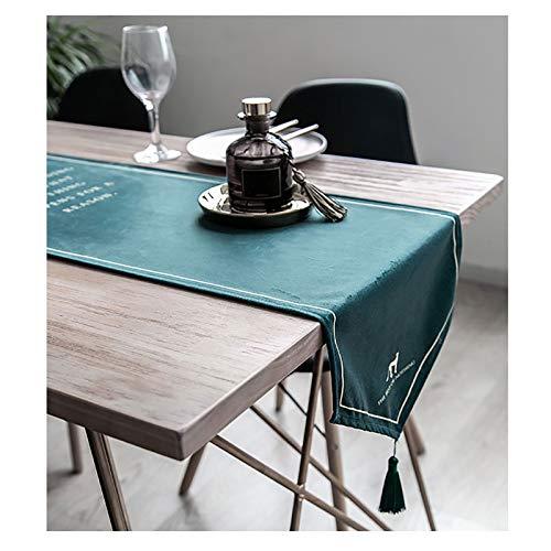 YINGJI Camino de mesa moderno de estilo europeo, mantel simple y ligero, adecuado para mesa de comedor, mesa de café, zapatero gabinete de TV, 30 cm de ancho (tamaño: 240 cm)