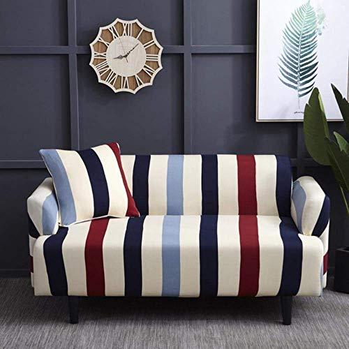 Lsqdwy 1/2/3/4 Sitzer Schonbezug rutschfeste elastische Sofabezüge Polyester Vier-Jahreszeiten-All-Inclusive-Stretch, Farbe 7,3 Sitzer 190-230CM