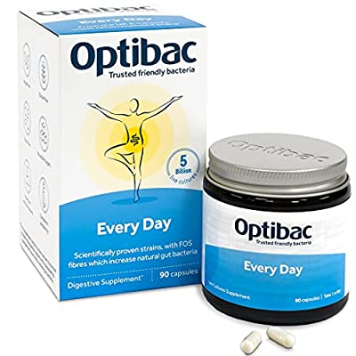 Optibac Every Day | Good Bacteria Supplement | Digestive System | Scientifically Proven | 5 Billion | 90 Capsules