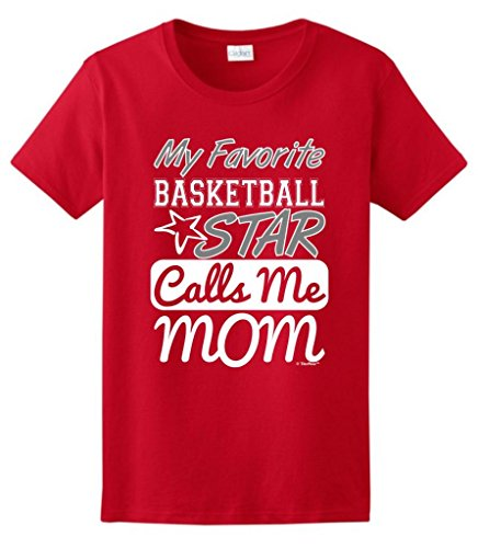 ThisWear My Favorite Basketball Star Calls Me Mom - Camiseta para Mujer - Rojo - Large