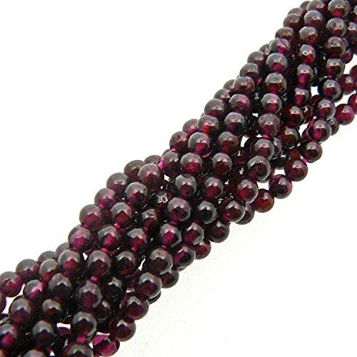 BrightJewels - Collar semiprecioso de color rojo intenso con piedras preciosas indias de 2 líneas de 13 pulgadas de 4 – 5 mm para hacer joyas.