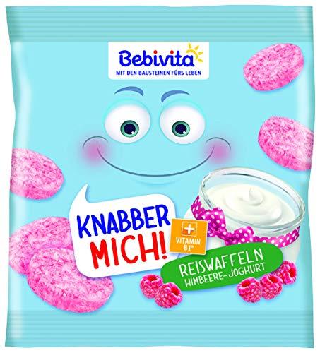 Bebivita Knabberprodukte MICH! Reiswaffel Himbeere-Joghurt, 7er Pack (7 x 30 g)