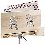 Boni Casa - Colgador magnético de madera [tecnología de roca magnética] Diseño moderno – Armario para llaves para...
