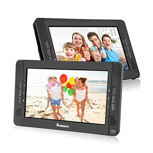 10.1' Dual Screen Portable DVD Player with 5-Hour Built-In...