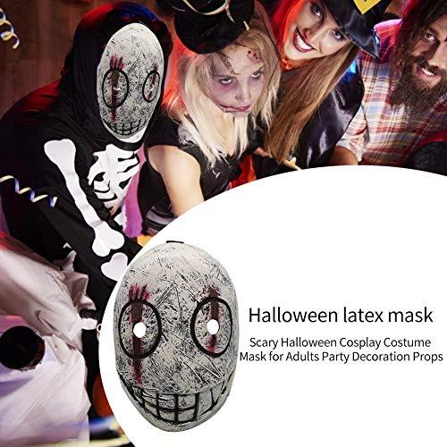 arbitra Máscara de Disfraces de Halloween, máscara Cosplay Fiesta mascarilla para Adultos Accesorios de decoración de Fiesta Practical
