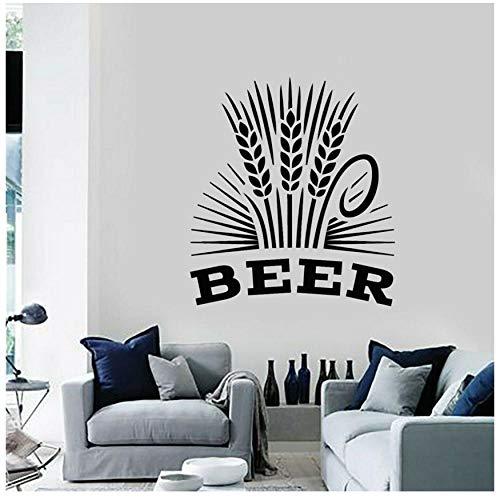 XXSCZ Alcohol Drinking Pub Bar Brouwerij Bier Schuim Molen Stickers Vinyl Muursticker Verwijderbare Interieur Decoratie Mural 57x64cm