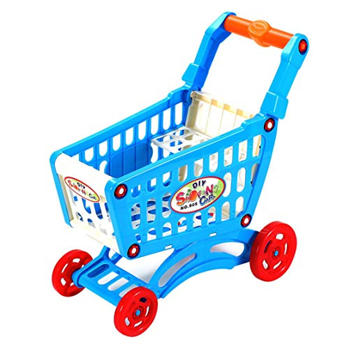 LouiseEvel215 Simuler supermarché Caddie Faire Semblant de Jouer Jouets Enfants Mini Chariot en Plastique Jouer...