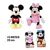 Mickey Mouse Clubhouse clásico - Muñeco de peluche original, 25 cm (modelos surtidos: Mickey / Minnie)