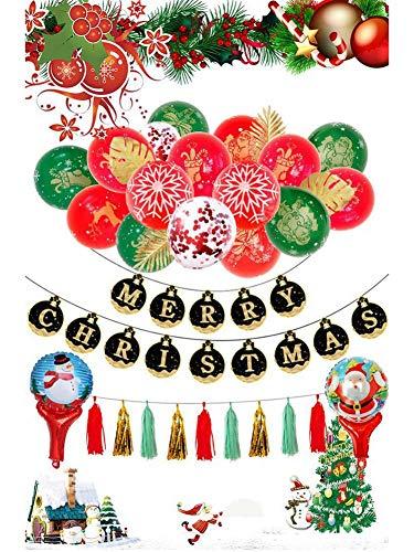Further Weihnachtszubehör, Dekoration für Luftballons, Snowmann & Santaa, Clauss, Luftballons, Happy Weihnachten, Latex, für Weihnachten, Halloween, Meerjungfrau, Valentinstag, Patrick, UNE