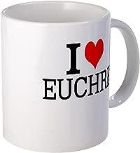 CafePress I Love Euchre Mugs Unique Coffee Mug, Coffee Cup