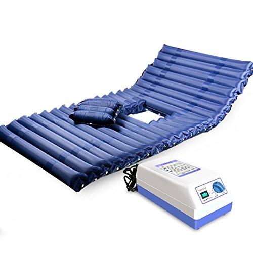 Lxn Materasso antidecubito gonfiabile in PVC per uso medico, con pompa elettrica e foro per padella (Deep Blue)