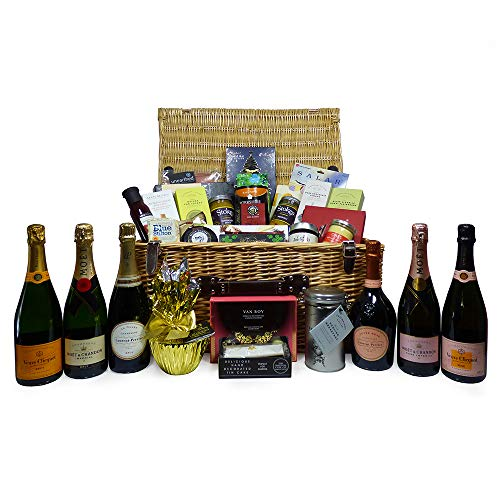 The Show Stopper - Luxury Champagne with Gourmet Food and Drink Gift Hamper - Ideas for Christmas, Mum, Birthday, Anniversary, Wedding, Business gifts, Corporate, Dad, Fathers Day