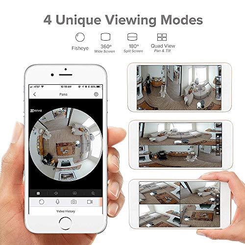 EZVIZ ez360 Pano(Mini Pano), 3 Megapixel WLAN-Fischaugen-Kamera mit Nachtsicht